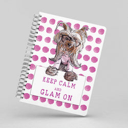 Keep Calm and Glam On Notebook By Suzanne Anderson
