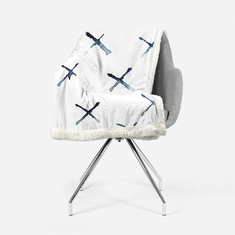 Triple X Watercolor by Suzanne Anderson - Fleece Sherpa Blanket