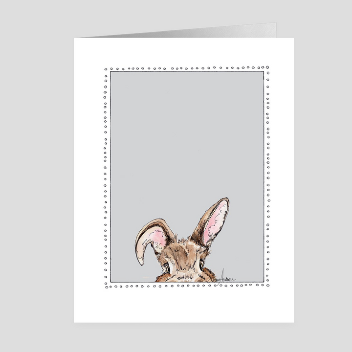 Peeking Bunny | Woodland Animal | Note Cards by Suzanne Anderson