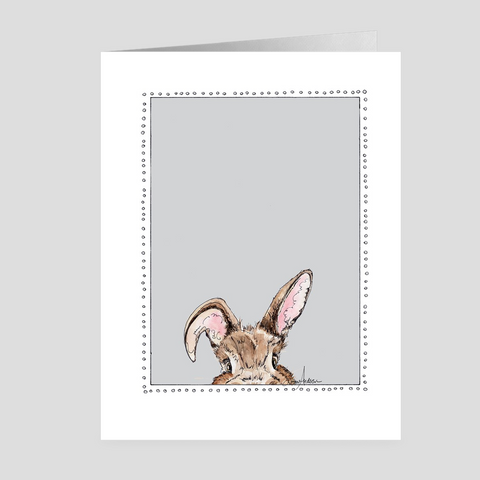 Peeking Bunny | Easter Cards | Woodland Animal | Note Cards by Suzanne Anderson