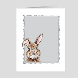 Happy Bunny | Woodland Animal | Note Cards by Suzanne Anderson
