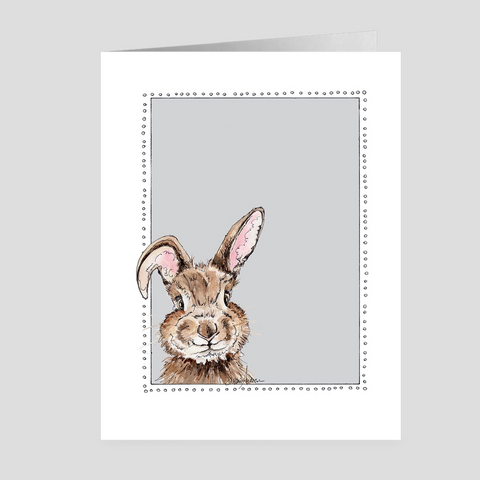 Happy Bunny | Easter Cards | Woodland Animal | Note Cards by Suzanne Anderson