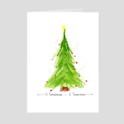O' Tannenbaum Tree Holiday Folded Cards