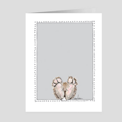 Bunny Feet | Woodland Animal | Note Cards by Suzanne Anderson