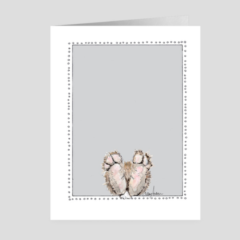Bunny Feet | Easter Cards | Woodland Animal | Note Cards by Suzanne Anderson