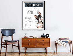 5th Ave NYC | Monopoly Art | Girls Room Decor | Art Print By Suzanne Anderson