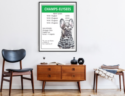 Champs-Elysees | Monopoly Art | Girls Room Decor | Art Print By Suzanne Anderson