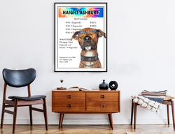 Haight Ashbury | Monopoly Art | Girls Room Decor | Art Print By Suzanne Anderson