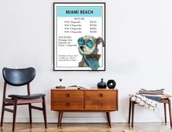Miami Beach | Monopoly Art | Girls Room Decor | Art Print By Suzanne Anderson