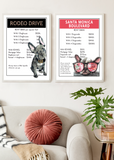 French Bull Dog (Frenchie) | Monopoly Art | Girls Room Decor | Rodeo Drive | Art Print By Suzanne Anderson