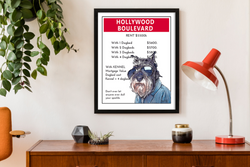 Hollywood Boulevard | Monopoly Art | Girls Room Decor | Art Print By Suzanne Anderson