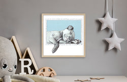 Bullet the Puppy - Nursery Art - Nursery Decor - Art Print By Artist Suzanne Anderson