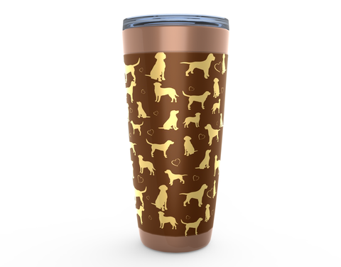 Yellow Lab copper drink tumbler