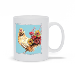 Coffee and Chickens Mug by Suzanne Anderson