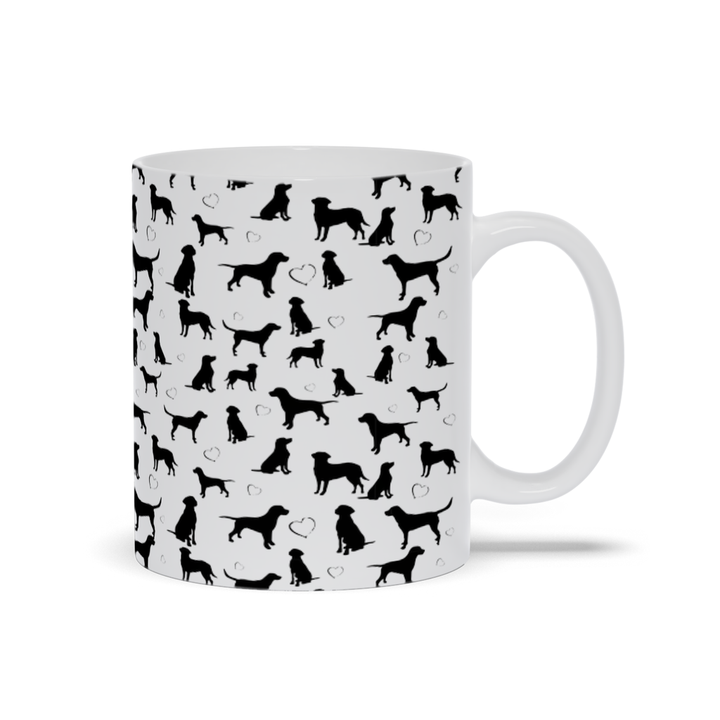Black Lab Mug by Suzanne Anderson