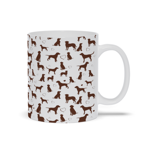 Chocolate Lab Mug by Suzanne Anderson