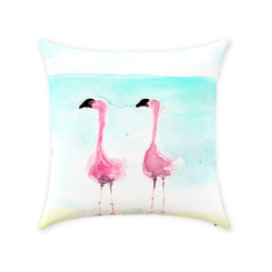 Flamingo-ol-o-gy Throw Pillows with #thinkpink by Suzanne Anderson