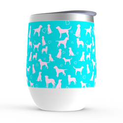 Pink and Teal lily pulitzer Lab stemless wine tumbler