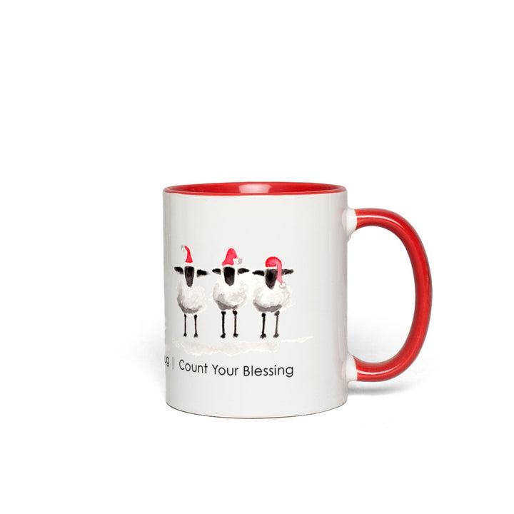 Sheep for the Holiday Accent Mugs