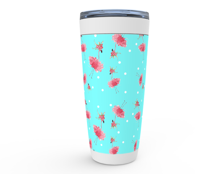 Pink Flamingo drink tumbler