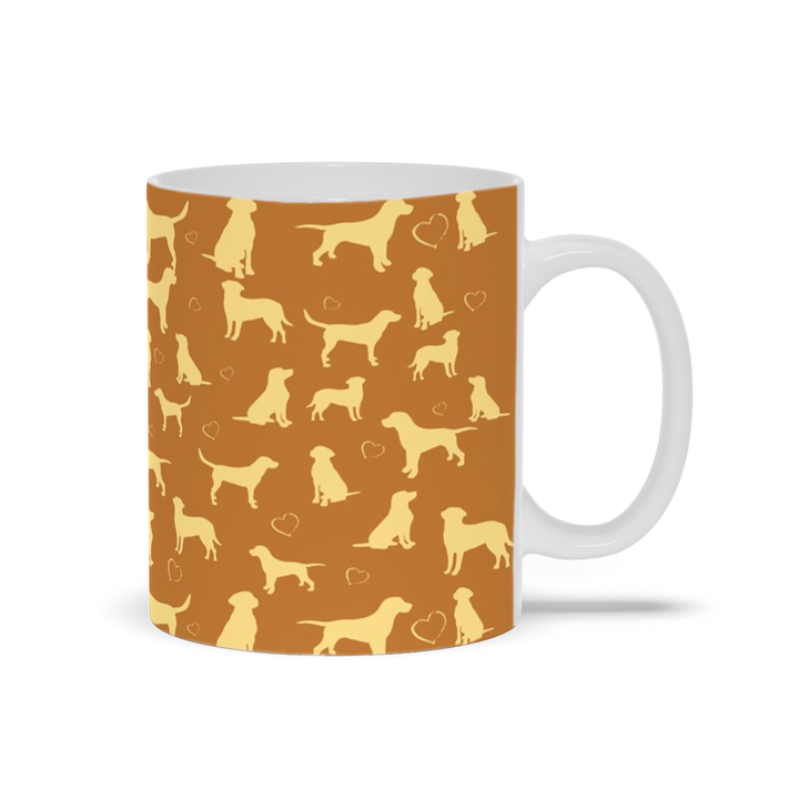 Double Yellow Lab Mugs by Suzanne Anderson
