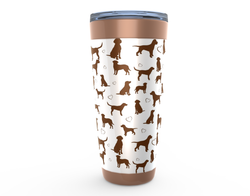 Chocolate lab drink tumbler