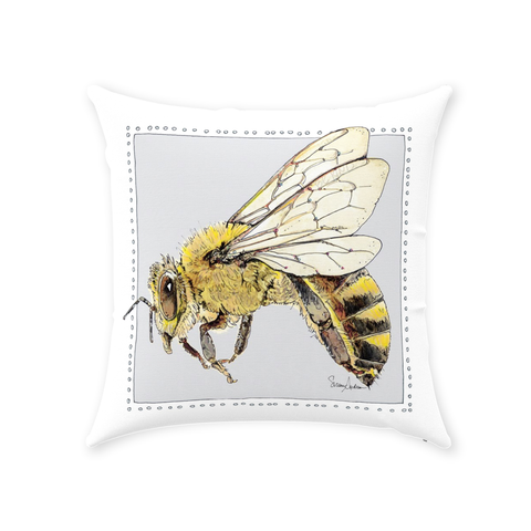 #bekind BeeBop the Honey Bee Throw Pillow - by Suzanne Anderson