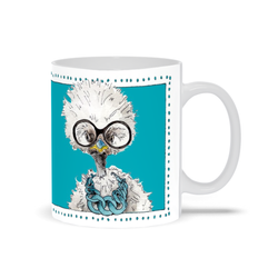 Iris | White Chicken | Mug by Suzanne Anderson
