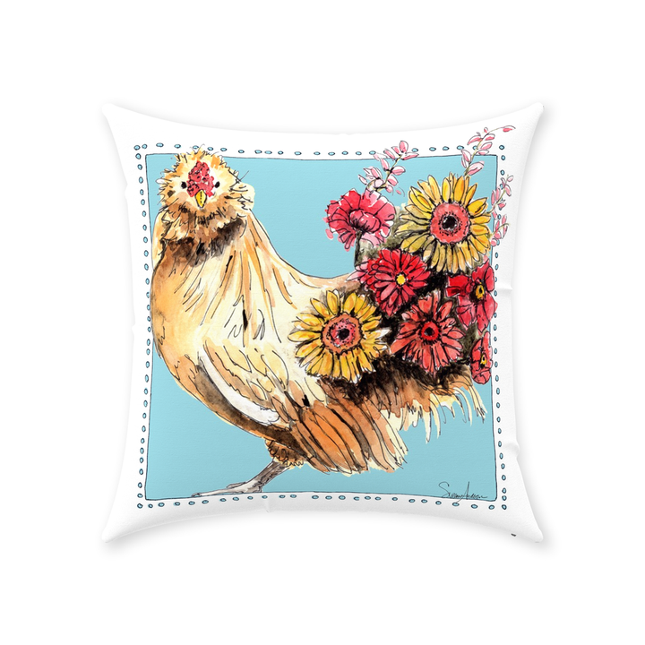 Flowers for Gracie Throw Pillow by Suzanne Anderson