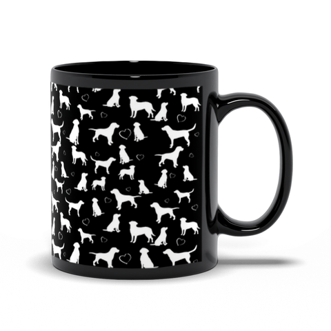 Labs in Black Mug by Suzanne Anderson