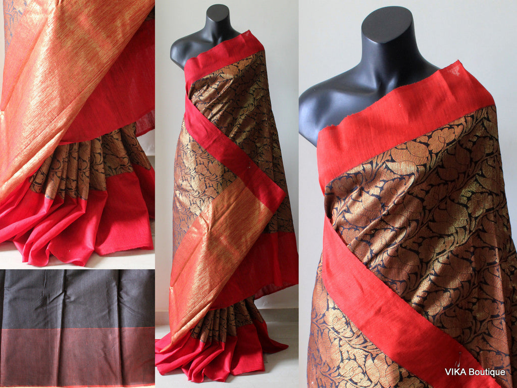 Banaras silk saree - VIKA Boutique