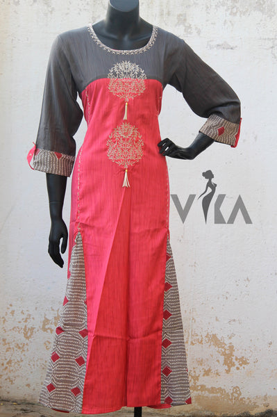 Embroidered rayon kurti
