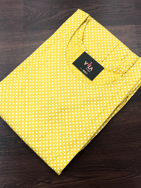 Yellow dot Printed Feeding kurti