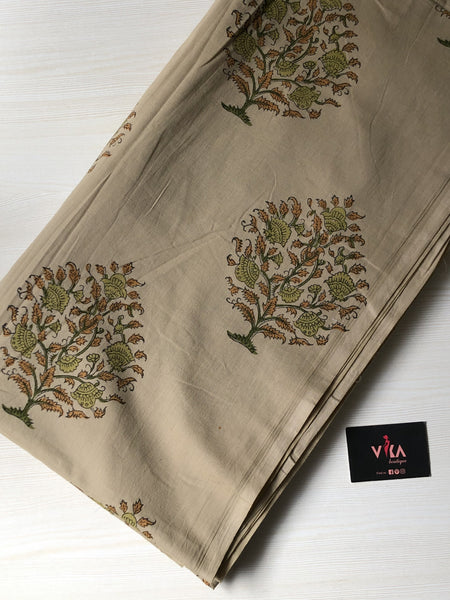 Bagru printed cotton fabric