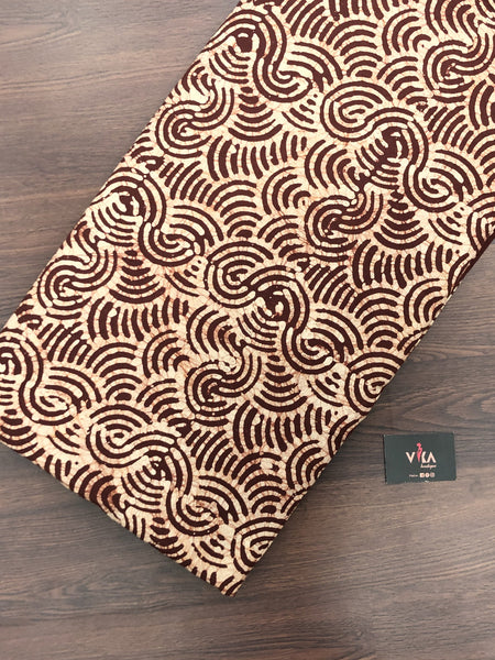 Batik printed cotton fabric