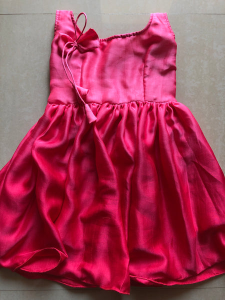 Shaded satin frock