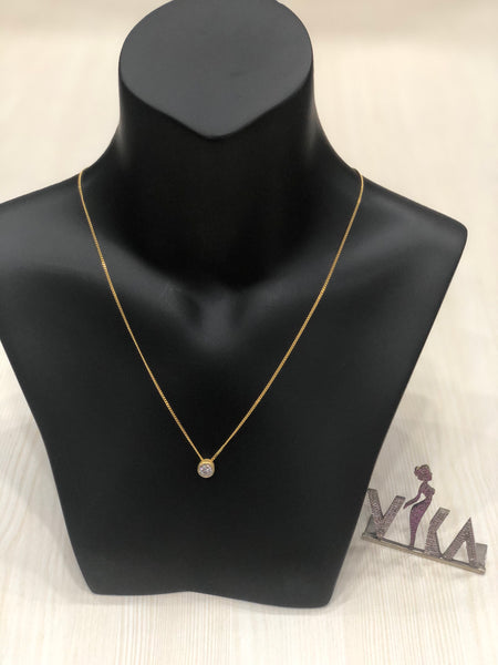 925 pure silver, gold plated chain