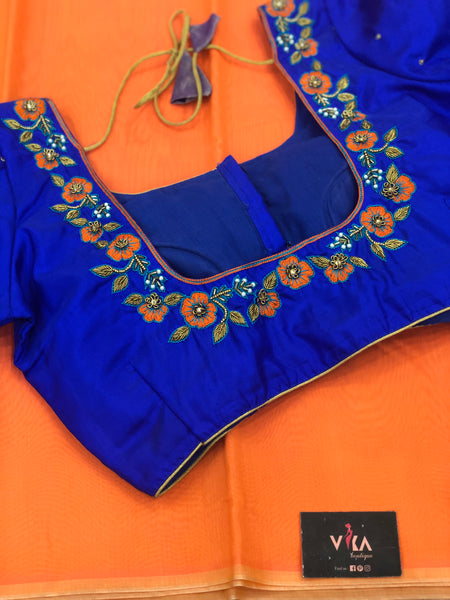 Saree with readyblouse size 36