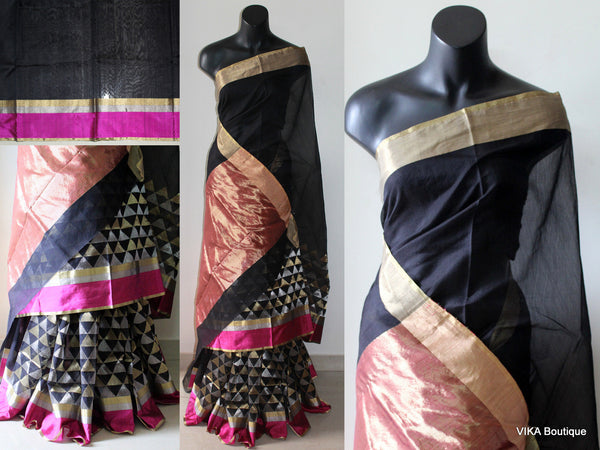 Pure chanderi saree