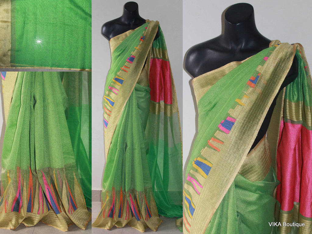 Handloom net Saree - VIKA Boutique