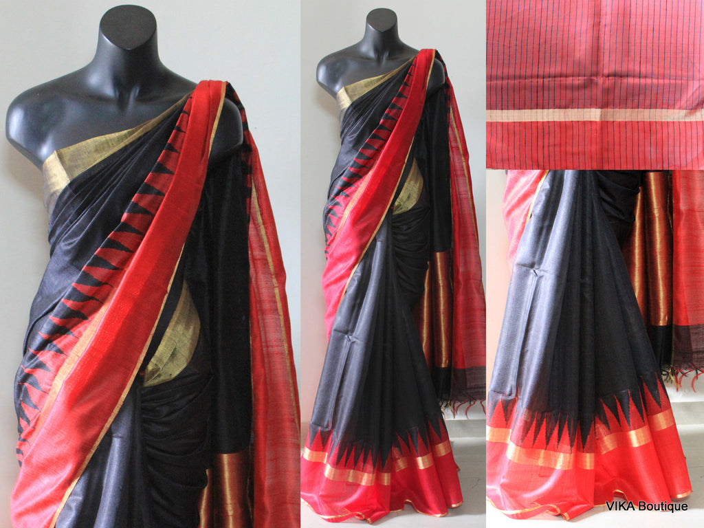 Matka silk saree - VIKA Boutique