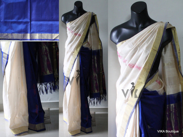 partly pallu soft silk saree