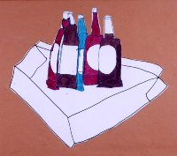 'Still Life with Bottles' 1999 by  Carl Jones