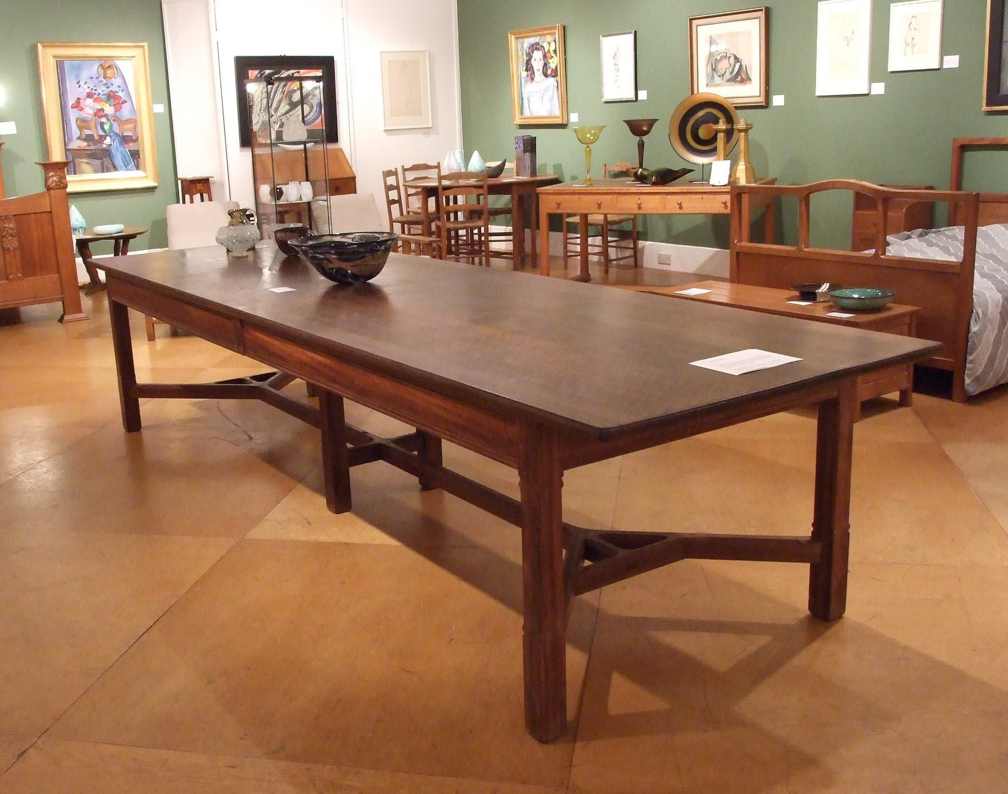 Important Peter Waals Dining Or Board Room Table 12 Foot Long!