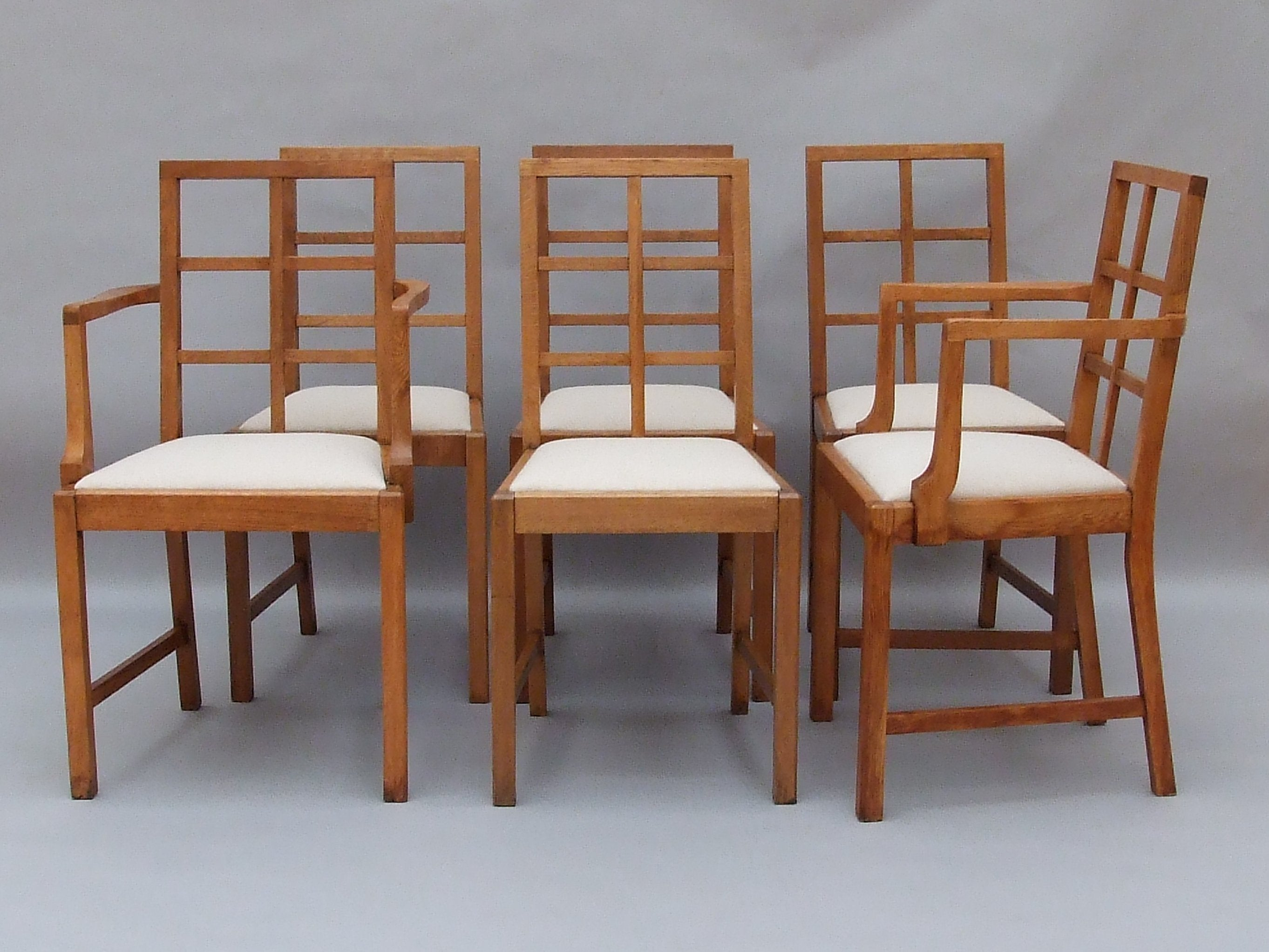 Set of 3 Lattice back Cotswold dining chairs - The Millinery Works