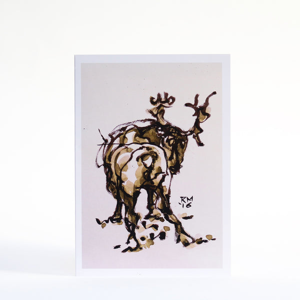 Twisted Reindeer Greetings Card