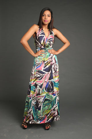 Abstract Elegance Dress - Malini Agarwal