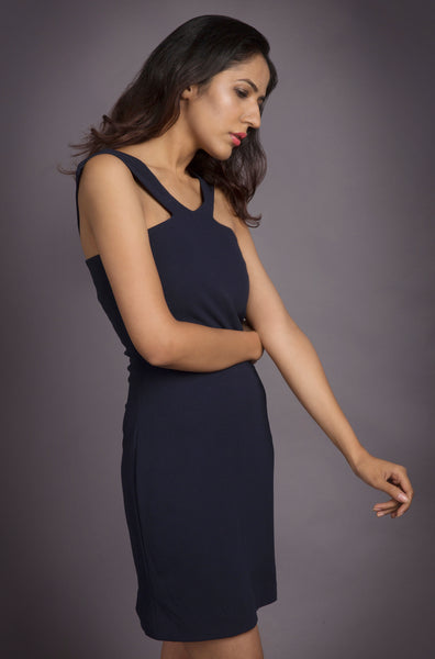 Navy Blue Dress - Pooja Banerjee