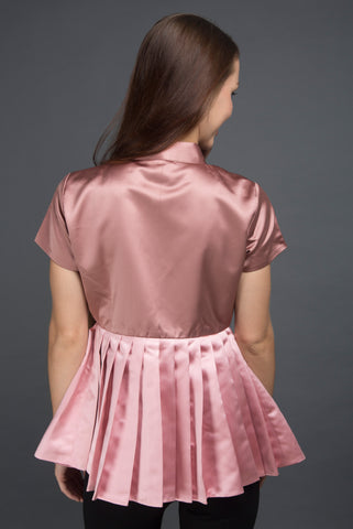 Rosegold Pleated Jacket