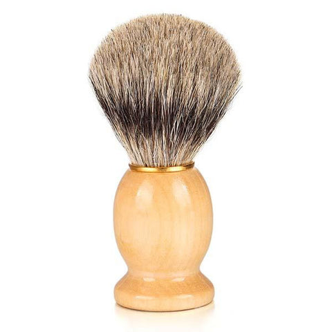Solid Wood Handle Classic Badger Hair Shaving Brush